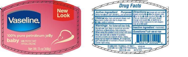 Vaseline Pure Baby (Petrolatum) Jelly [Conopco Inc. D/b/a Unilever]