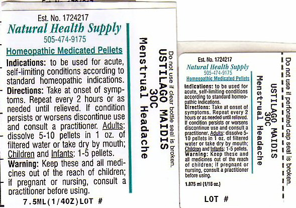 Menstrual Headache (Ustilago Maydis) Pellet [Natural Health Supply]