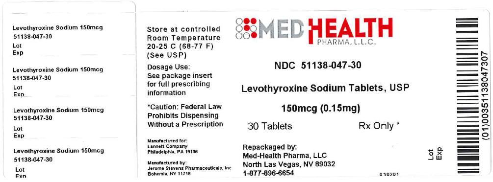Levothyroxine Sodium Tablet [Med-health Pharma, Llc]