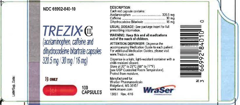 Trezix (Acetaminophen, Caffeine, Dihydrocodeine Bitartrate) Capsule [Wraser Llc]
