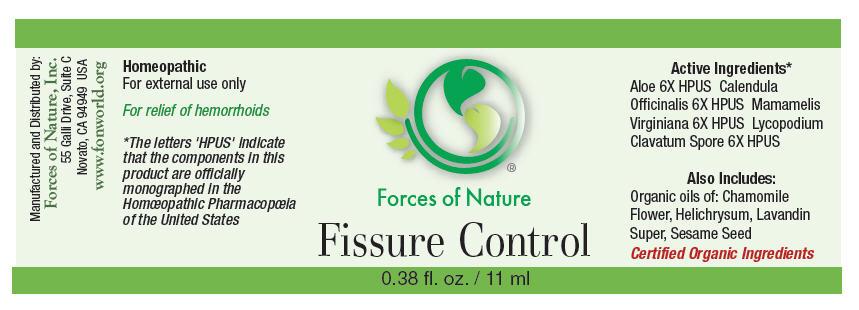 Fissure Control (Aloe, Calendula Officinalis Flowering Top, Hamamelis Virginiana Root Bark/stem Bark, And Lycopodium Clavatum Spore) Solution/ Drops [Forces Of Nature]