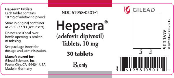 Hepsera (Adefovir Dipivoxil) Tablet [Gilead Sciences, Inc.]
