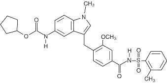 Zafirlukast structural formula