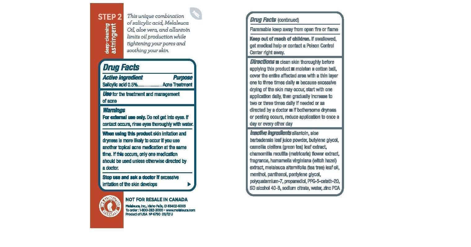Clarity Clear Skin Essentials Deep-cleaning Astringent (Salicylic Acid) Liquid [Melaleuca, Inc.]