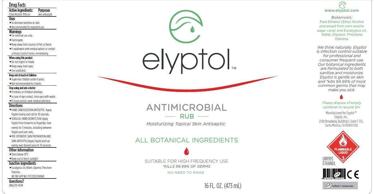 Elyptol Antimicrobial Rub (Ethanol) Solution [Elyptol Inc.]