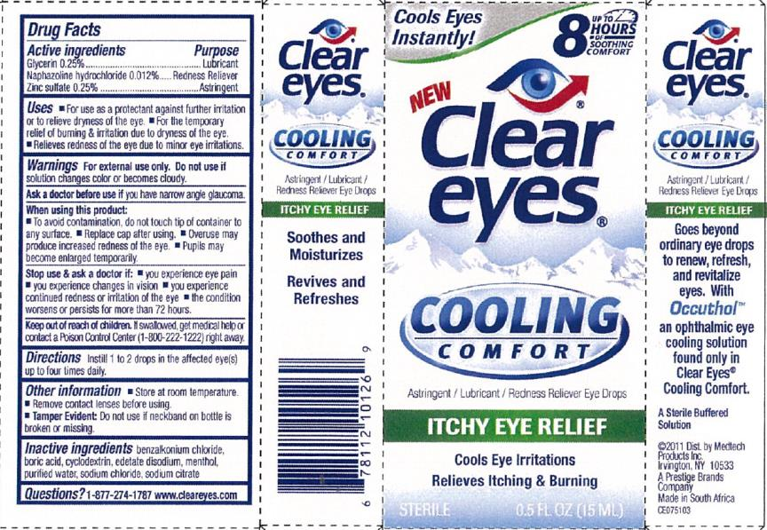 Clear Eyes Cooling Itchy Eye Relief (Naphazoline Hydrochloride And Glycerin And Zinc Sulfate) Liquid [Prestige Brands Holdings, Inc.]