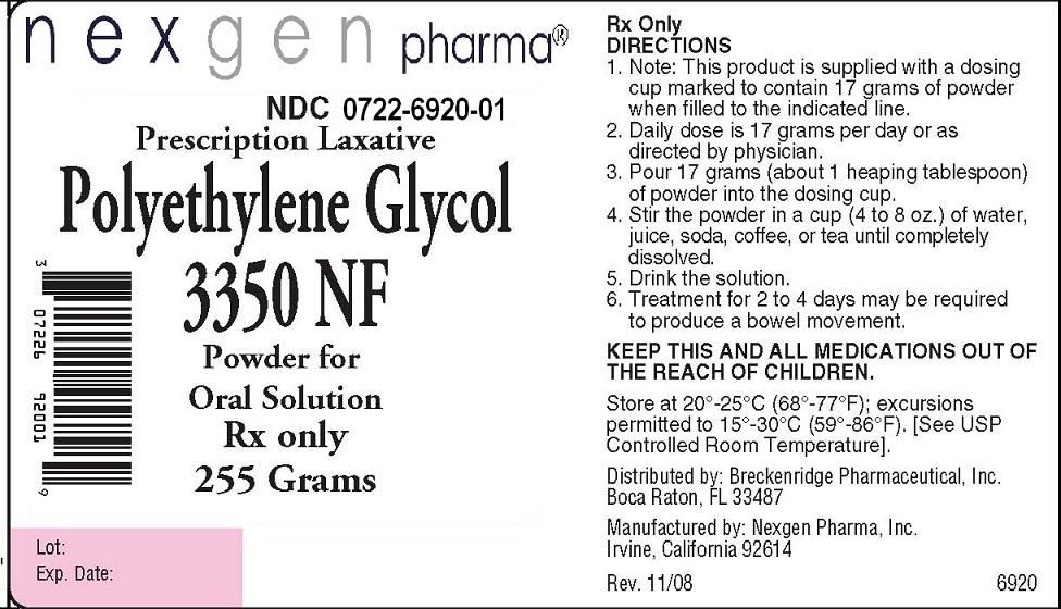 Polyethylene Glycol 3350 Powder, For Solution [Nexgen Pharma, Inc.]