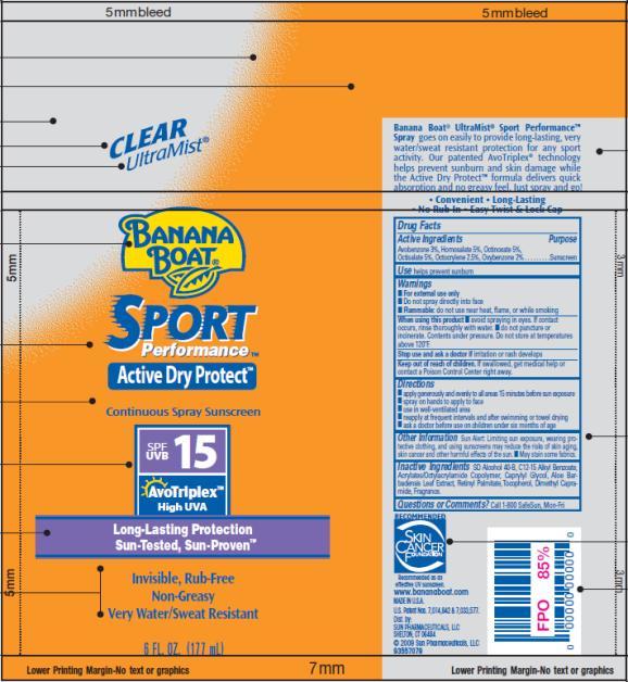 PRINCIPAL DISPLAY PANEL Banana Boat Sport Performance SPF 15