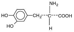 structural formula for levodopa