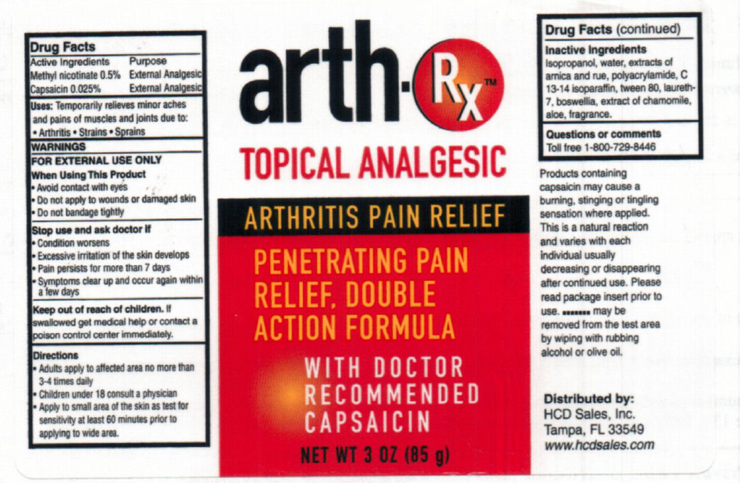 Arth Rx Topical Analgesic (Methyl Nicotinate, Capsaicin) Lotion [Hcd Sales]