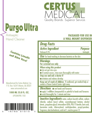 Purgo Ultra (Triclosan) Soap [Certus Medical, Inc.]