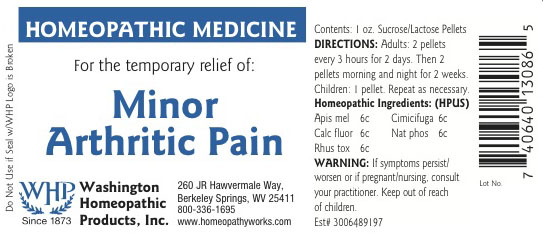 Minor Arthritic Pain (Apis Mellifera – Black Cohosh – Calcium Fluoride – Sodium Phosphate, Dibasic Anhydrous – Sodium Chloride) Pellet [Washington Homeopathic Products]
