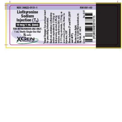 Liothyronine Sodium Injection, Solution [X-gen Pharmaceuticals, Inc.]
