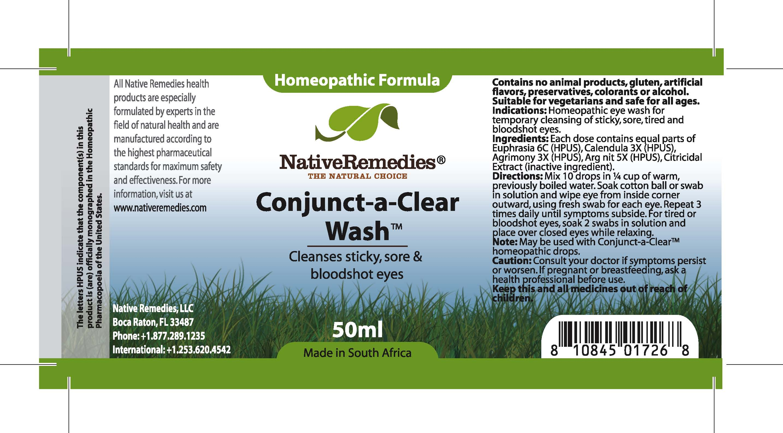 Conjunct-a-clear Wash (Euphrasia , Calendula, Agrimony, Arg Nit ) Tincture [Feelgood Health]