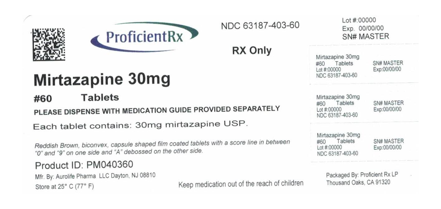 Mirtazapine Tablet, Film Coated [Proficient Rx Lp]