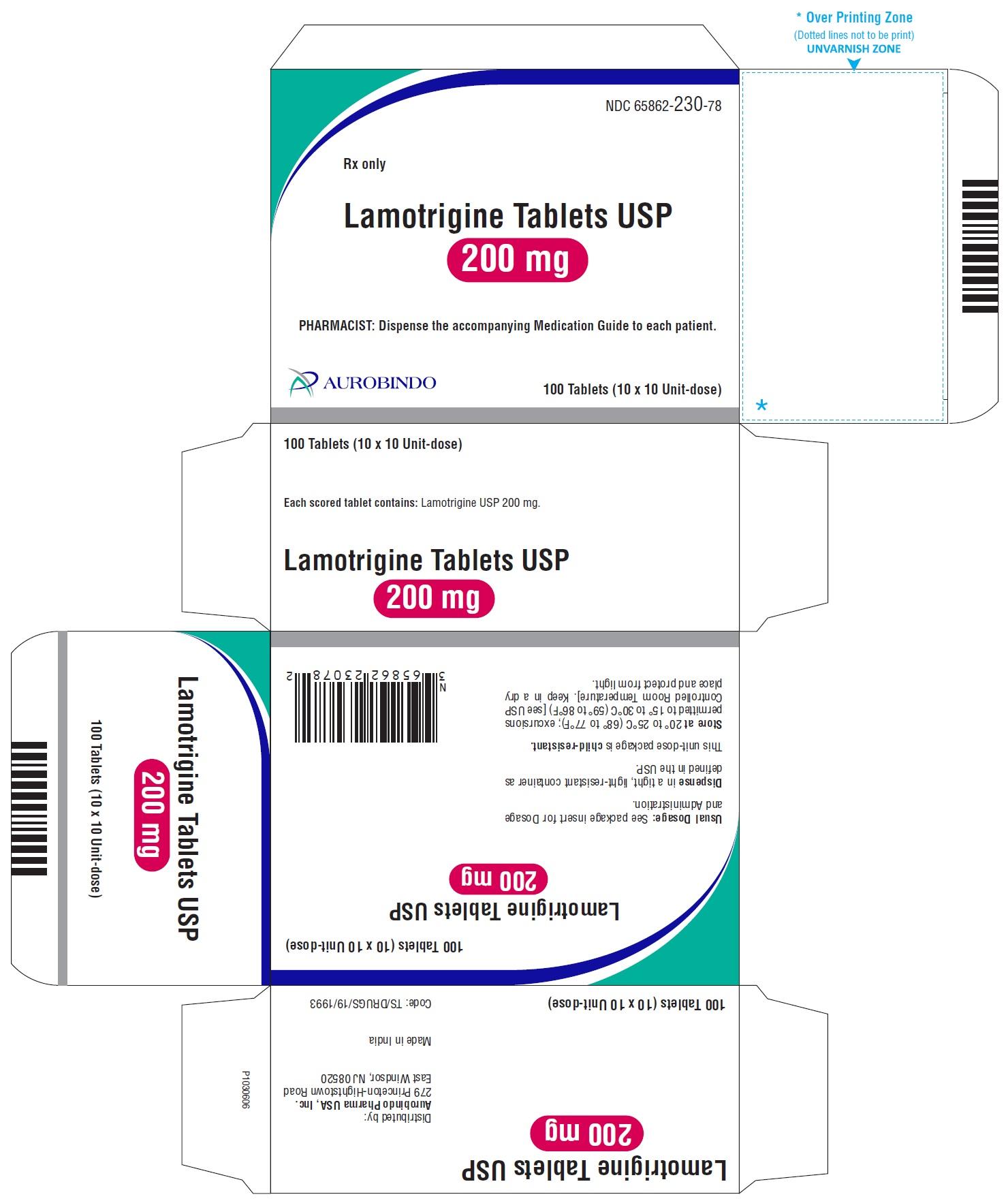 PACKAGE LABEL-PRINCIPAL DISPLAY PANEL - 200 mg Blister Carton (10 x 10 Unit-dose)