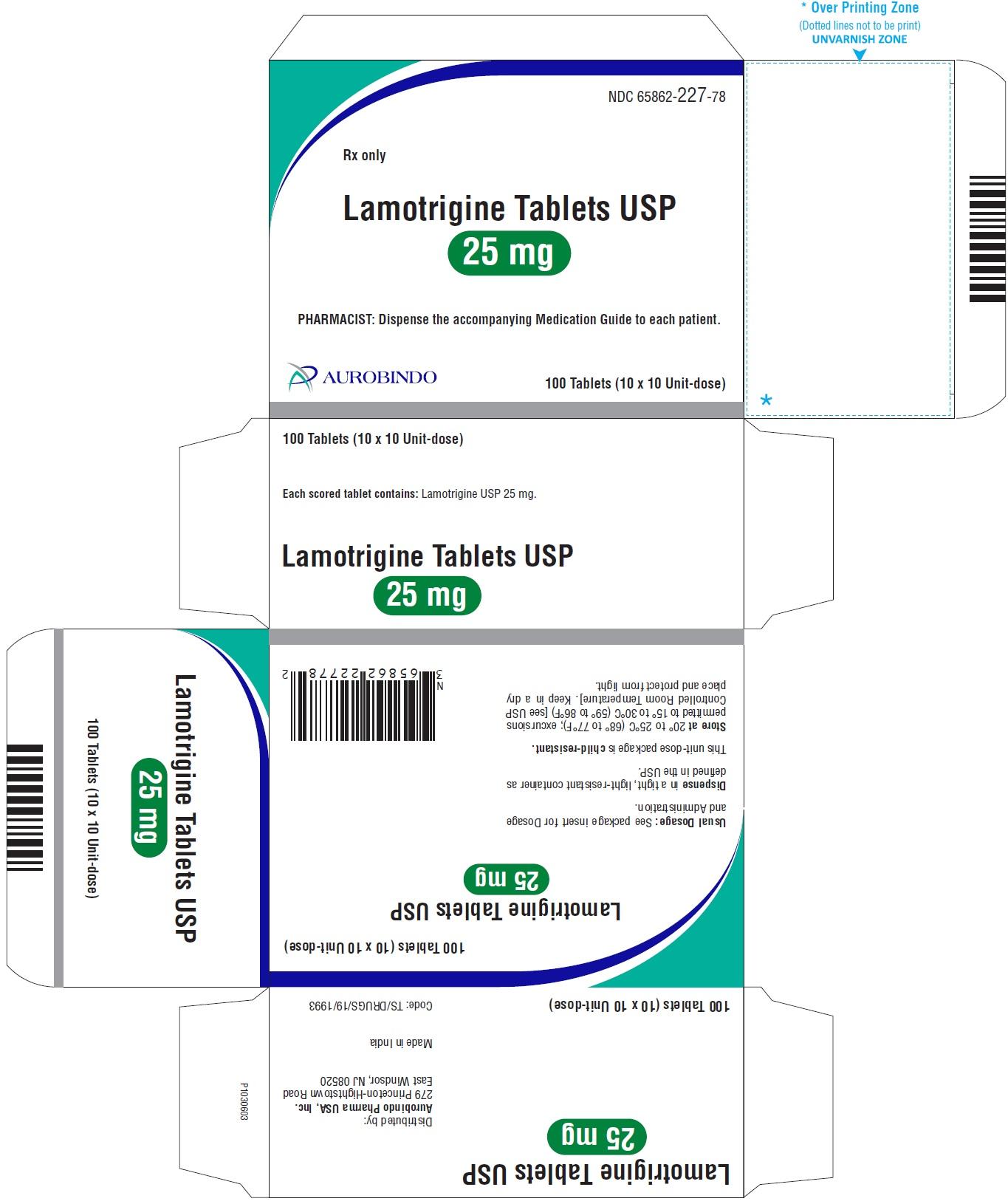 PACKAGE LABEL-PRINCIPAL DISPLAY PANEL - 25 mg Blister Carton (10 x 10 Unit-dose)