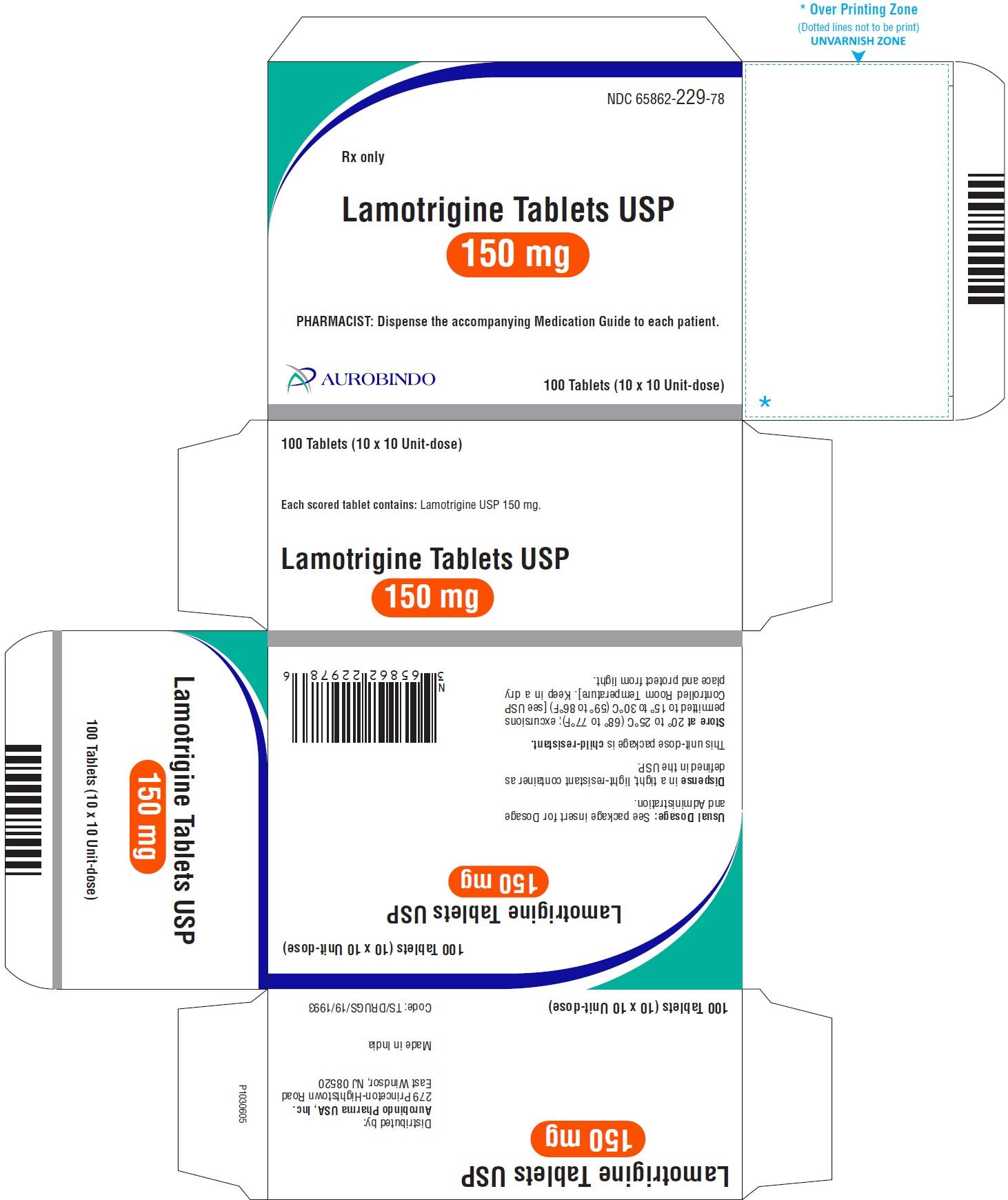 PACKAGE LABEL-PRINCIPAL DISPLAY PANEL - 150 mg Blister Carton (10 x 10 Unit-dose)