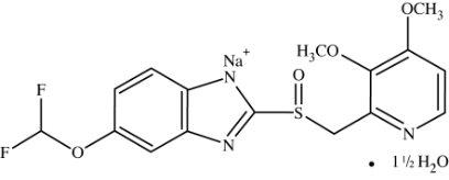 Pantoprazole Structural Formula
