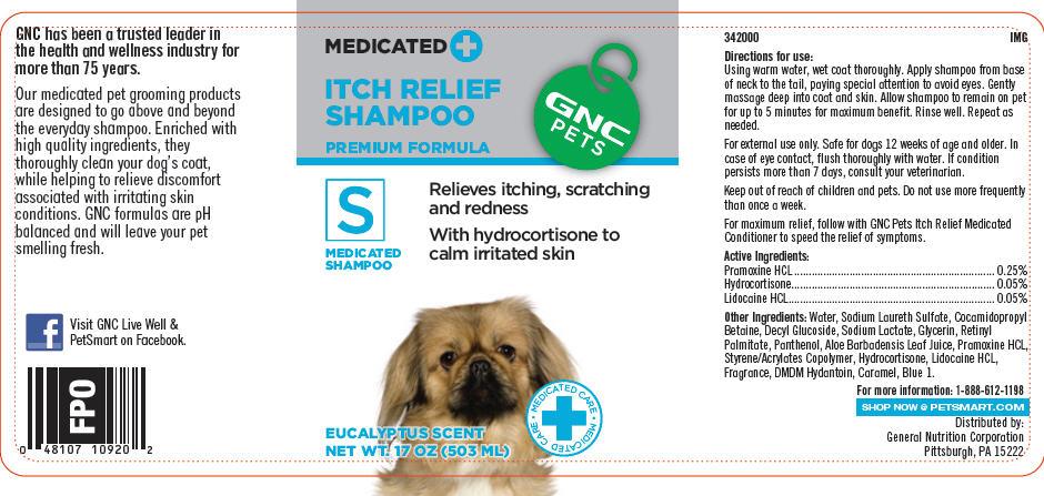 Gnc Pets Itch Relief (Premium Formula) (Pramoxine Hydrochloride, Hydrocortisone, And Lidocaine Hydrochloride) Shampoo [General Nutrition Corporation]
