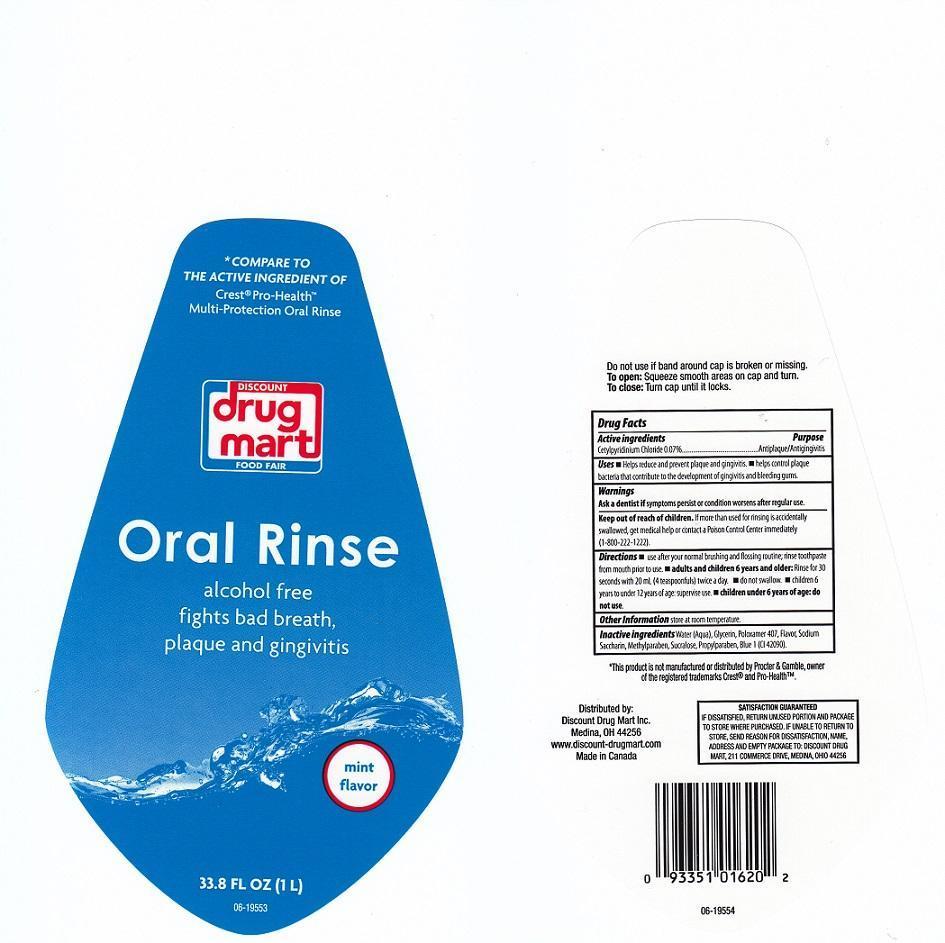 Discount Drug Mart Mint Mouthwash (Cetylpyridinium Chloride) Liquid [Discount Drug Mart]