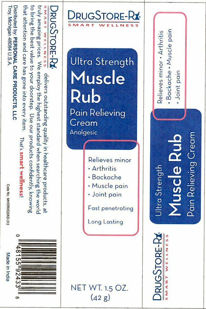 Muscle Rub Ultra Strength Pain Relieving (Menthol) Cream [Personal Care Products, Inc.]