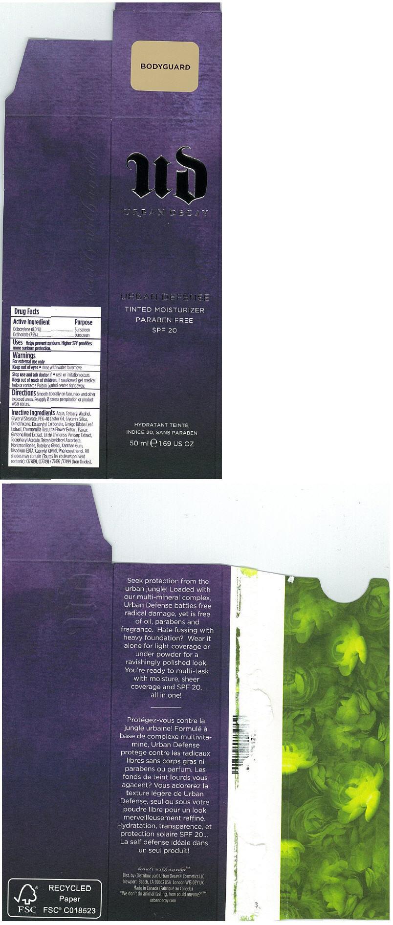 Principal Display Panel - 50 ml BODYGUARD Carton