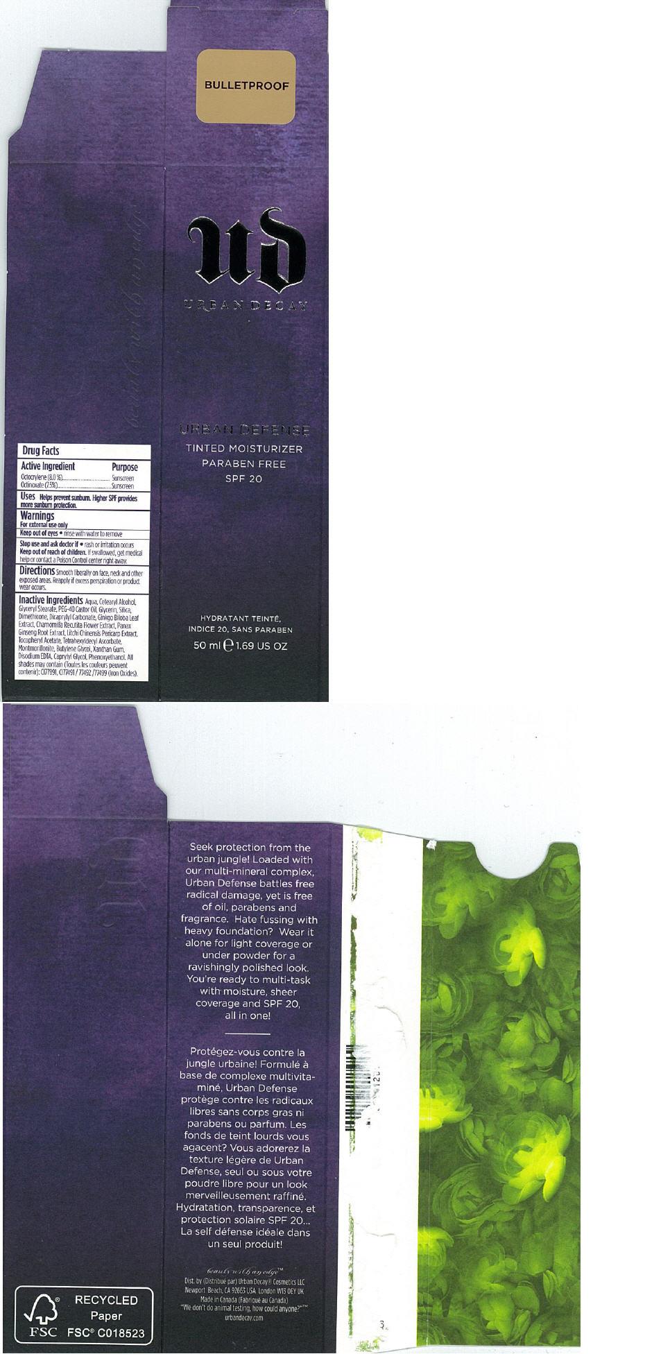 Principal Display Panel -  50 ml BULLETPROOF Carton