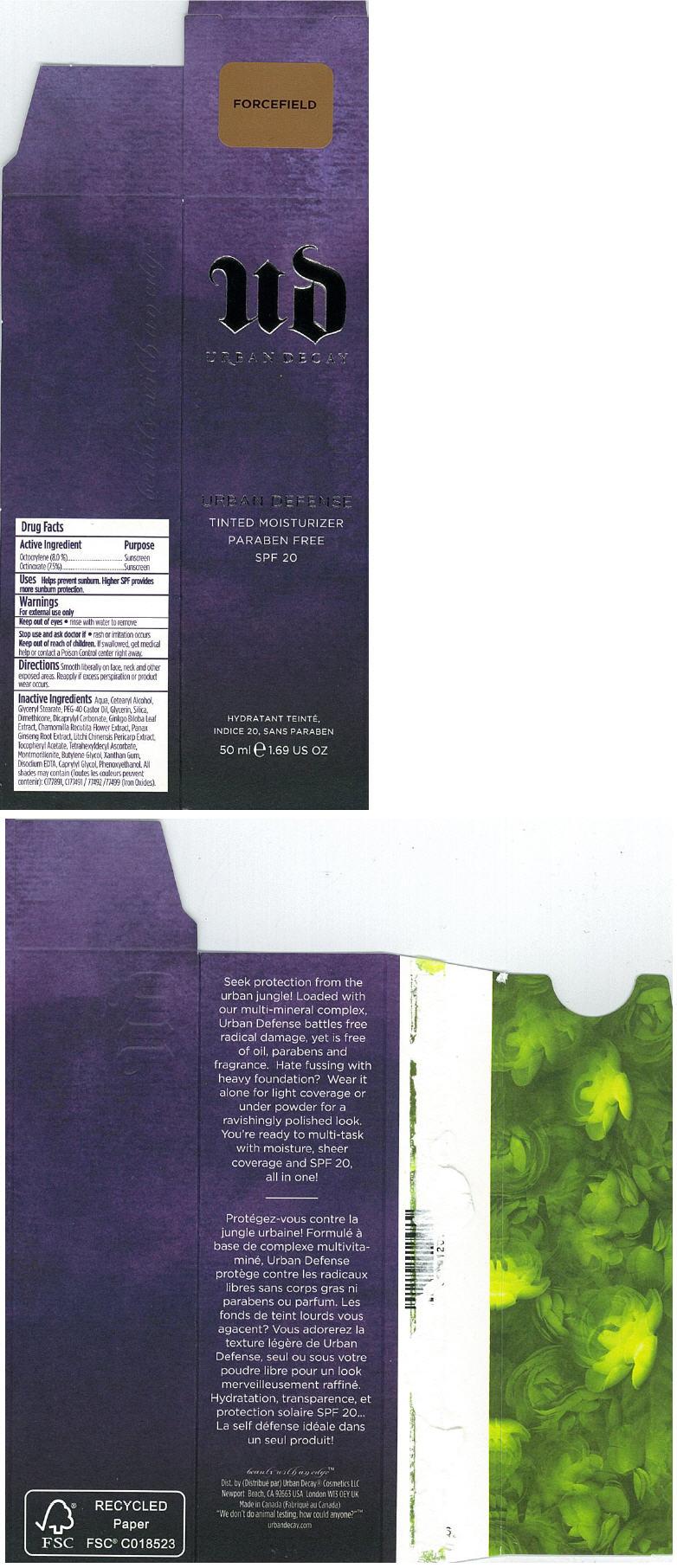 Principal Display Panel - 50 ml FORCEFIELD Carton