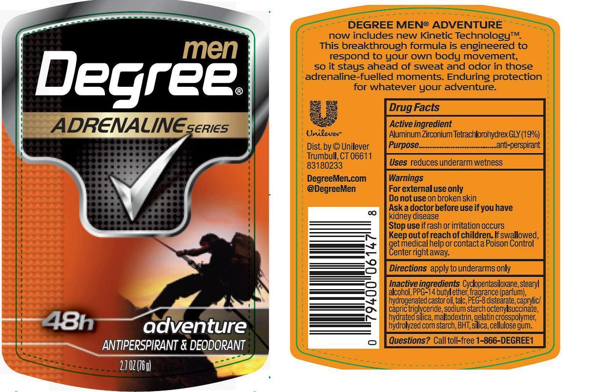 Degree Adventure Antiperspirant And Deodorant (Aluminum Zirconium Tetrachlorohydrex Gly) Stick [Conopco Inc. D/b/a Unilever]