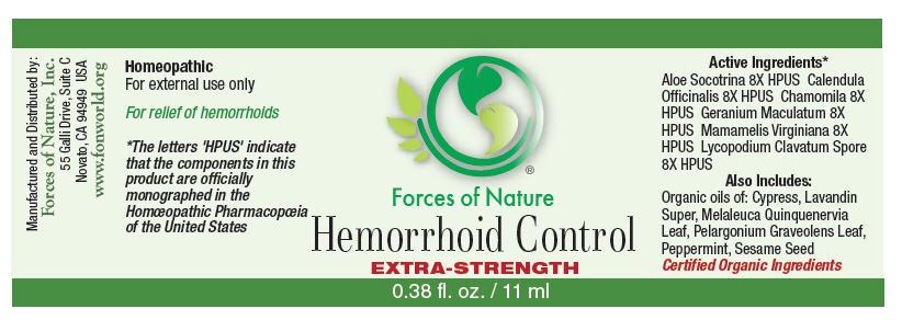 Hemorrhoid Control (Aloe, Calendula Officinalis Flowering Top, Hamamelis Virginiana Root Bark/stem Bark, Lycopodium Clavatum Spore, Chamomile, And Geranium Maculatum Root) Solution/ Drops [Forces Of Nature]