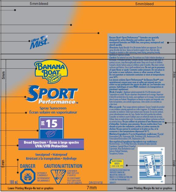 PRINCIPAL DISPLAY PANEL Banana Boat Sport Performance SPF 15 Canada