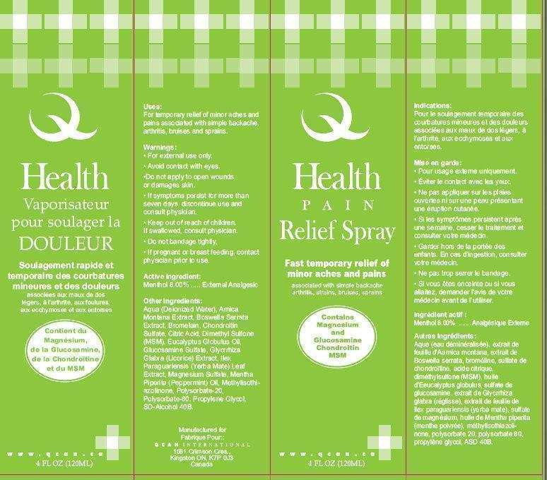 Pain Relief Spray Outer