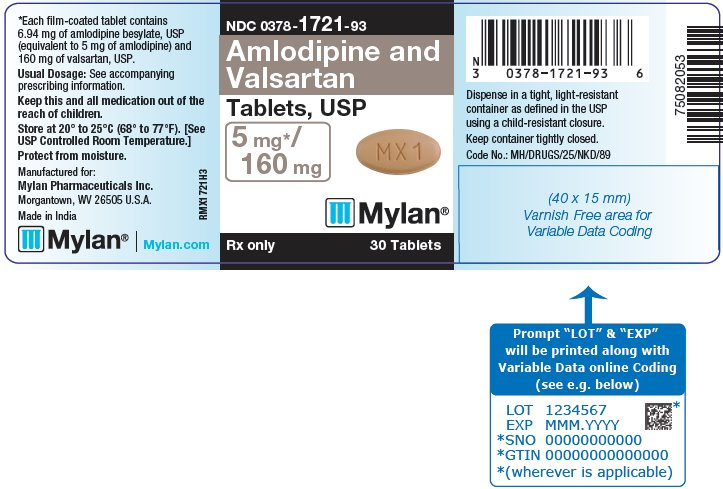 Amlodipine Besylate And Valsartan Tablet, Film Coated [Mylan Pharmaceuticals Inc.]