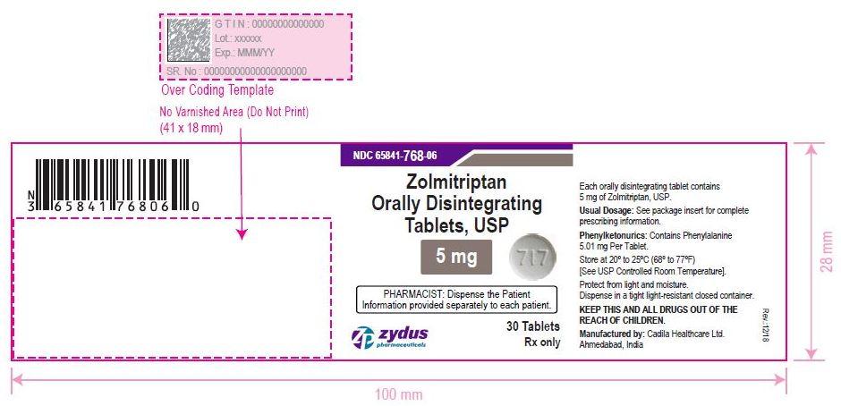 Zolmitritan OD Tablets, 5 mg