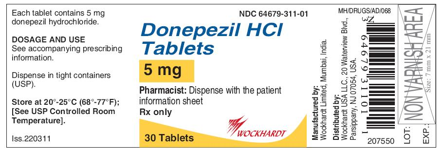 Donepezil Hydrochloride Tablet, Film Coated [Wockhardt Usa Llc.]