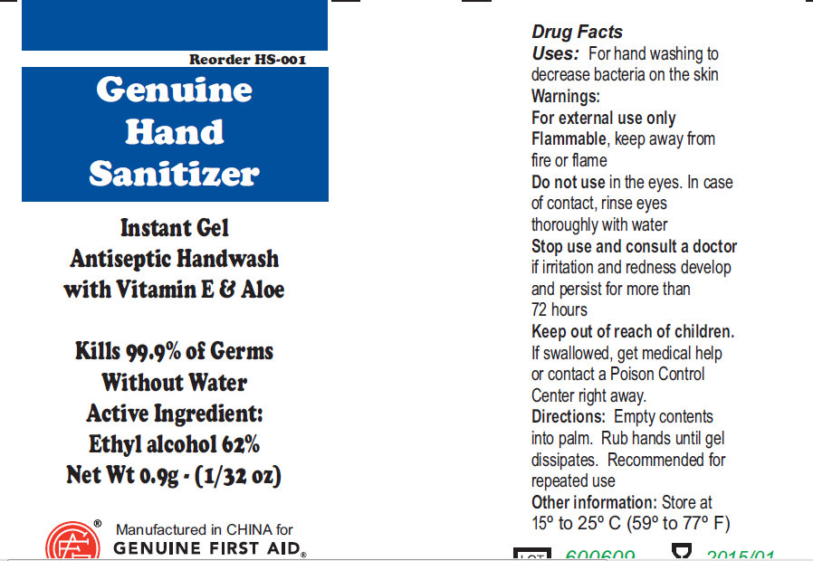 Genuine Hand Sanitizer (Alcohol) Gel [Genuine First Aid Llc]
