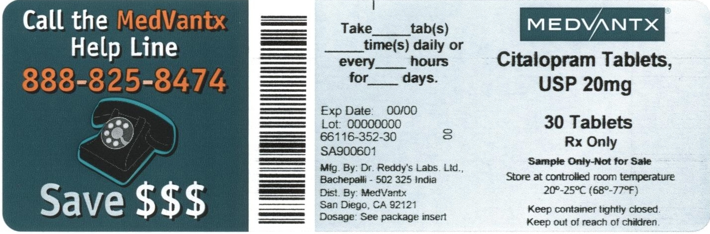 Citalopram Hydrobromide Tablet, Film Coated [Medvantx, Inc.]