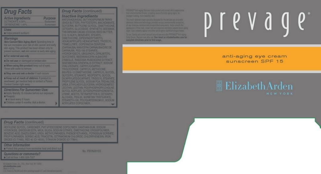 Prevage Anti Aging Eye Sunscreen Spf 15 (Octinoxate And Oxybenzone) Cream [Elizabeth Arden, Inc]
