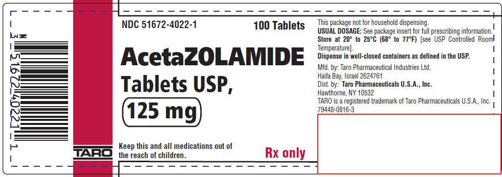 PRINCIPAL DISPLAY PANEL - 125 mg Tablet Bottle Label