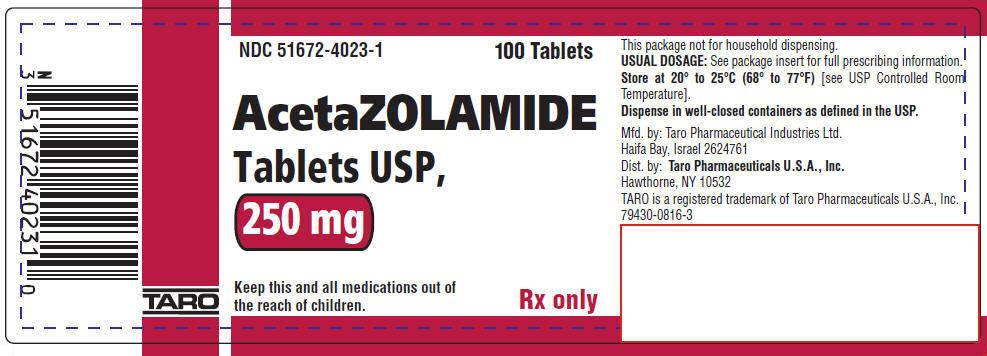 PRINCIPAL DISPLAY PANEL - 250 mg Tablet Bottle Label