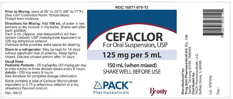 Cefaclor Suspension [Pack Pharmaceuticals, Llc]