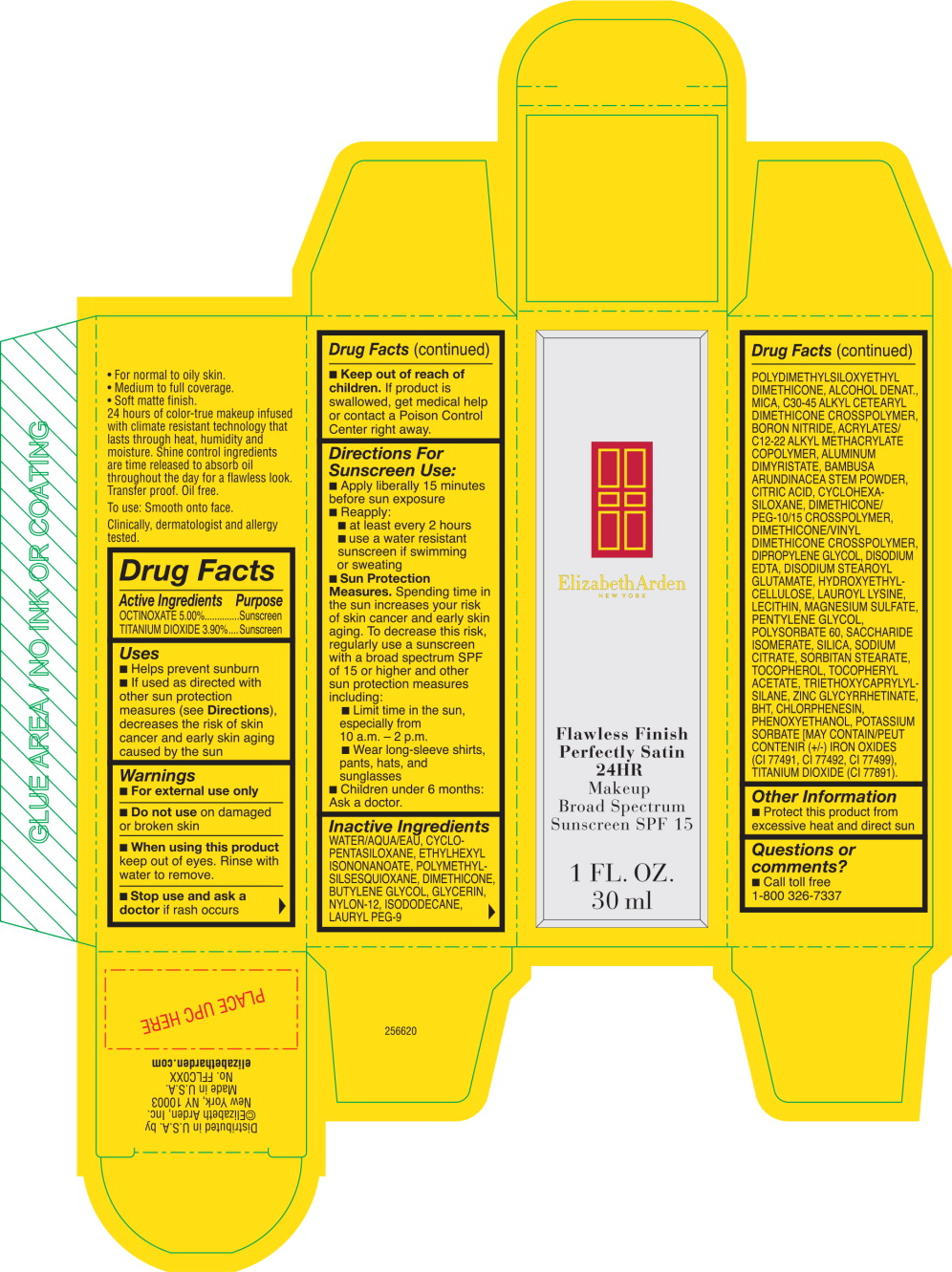 Flawless Finish Perfectly Satinb 24hr Makeup Shade Honey Beige (Octinoxate, Titanium Dioxide) Cream [Elizabeth Arden, Inc]