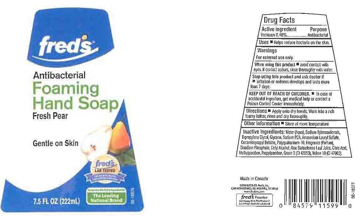 Freds Antibacterial Fresh Pear (Triclosan) Liquid [Freds Inc.]