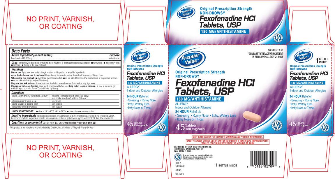 Premier Value fexofenadine HCl