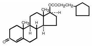 Testosterone Cypionate Structural Formula