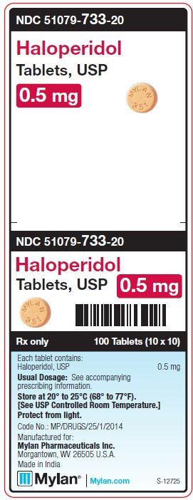 Haloperidol 0.5 mg Tablets Unit Carton Label