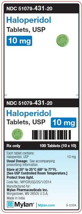 Haloperidol 10 mg Tablets Unit Carton Label