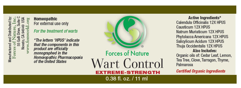 Wart Control (Calendula Officinalis Flowering Top, Causticum, Phytolacca Americana Root, Thuja Occidentalis Leafy Twig, Sodium Chloride, And Salicylic Acid) Solution/ Drops [Forces Of Nature]
