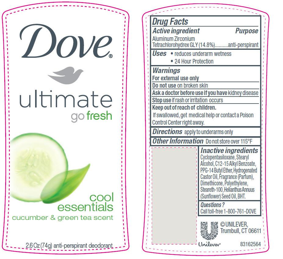 Dove Ultimate Go Fresh Cool Essentials (Antiperspirant And Deodorant) Stick [Conopco Inc. D/b/a Unilever]